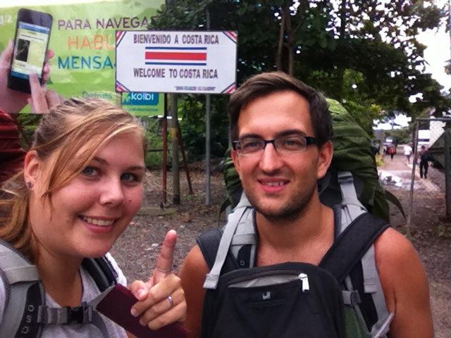 Grenze zu Nicaragua bei Penas Blancas